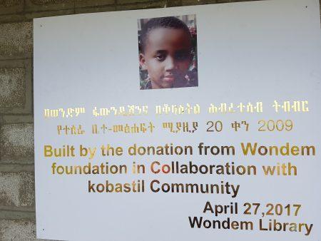 Heel hartelijk bedankt Stichting Wondem voor de schoolbibliotheek